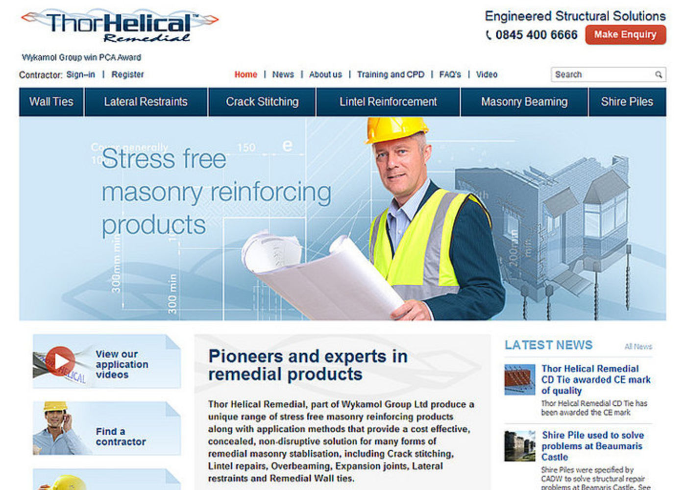 Thor Helical Remedial Homepage header