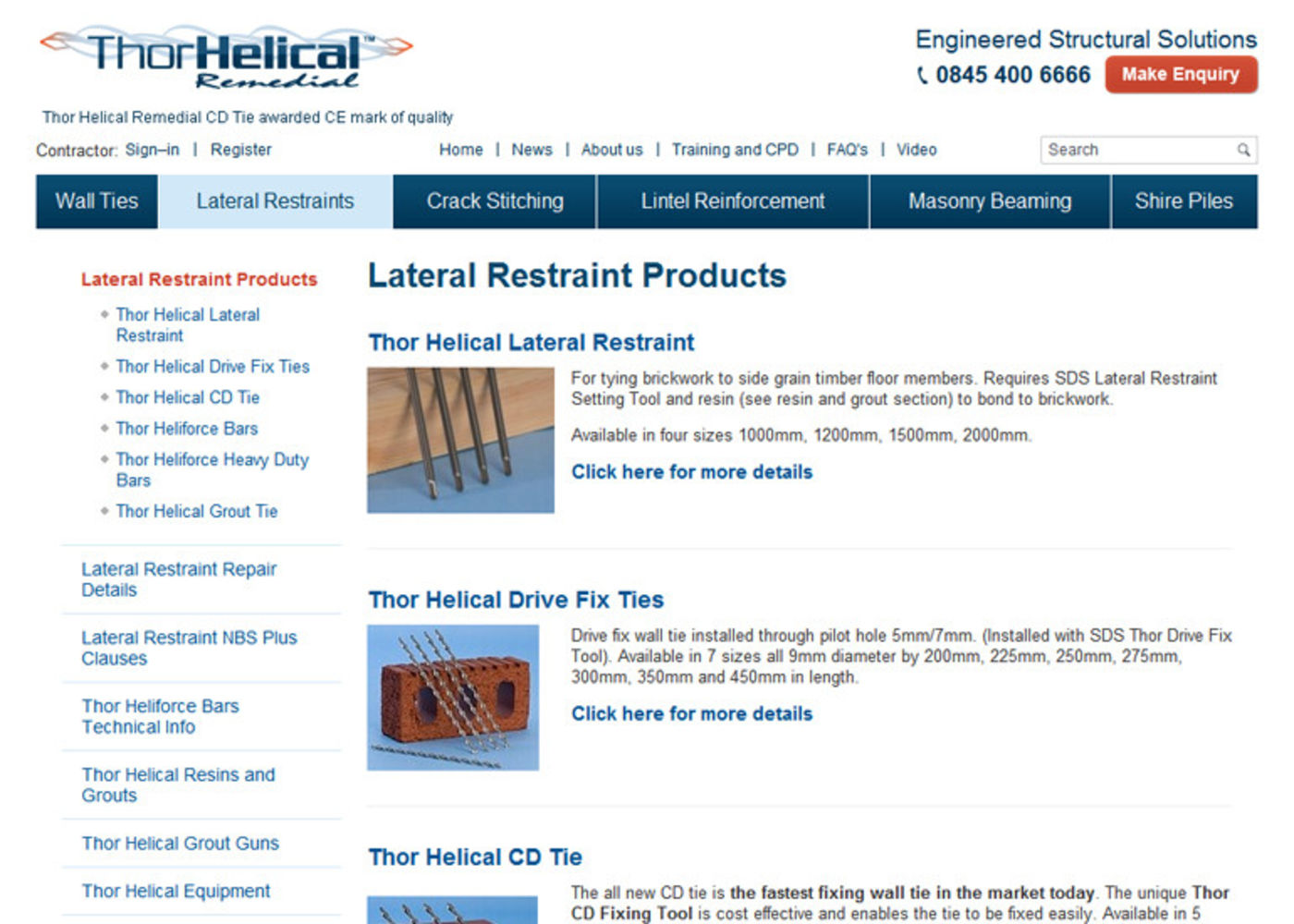 Thor Helical Remedial Products
