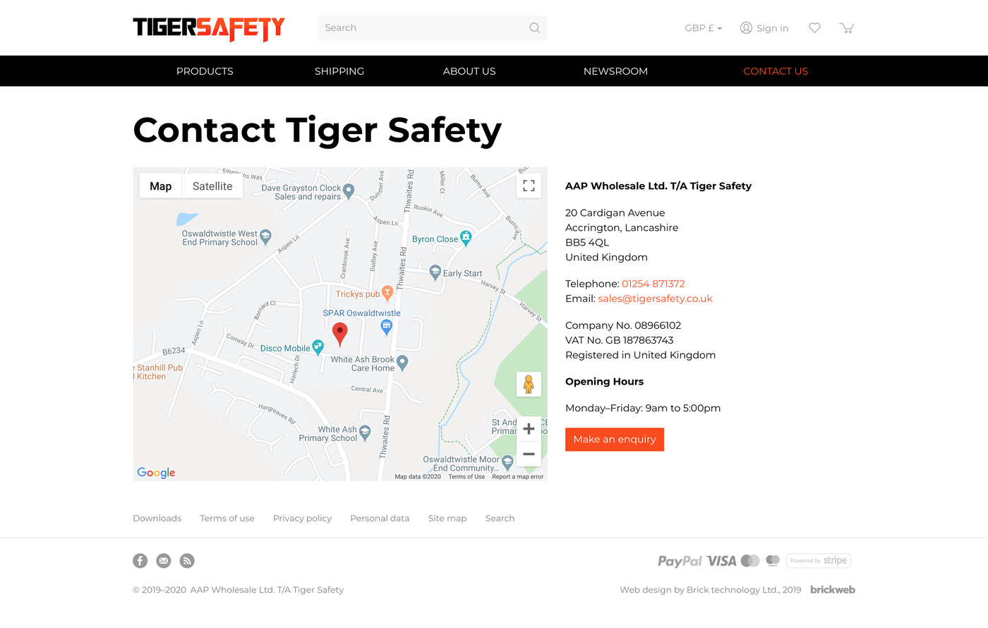 Tiger Safety Contact us
