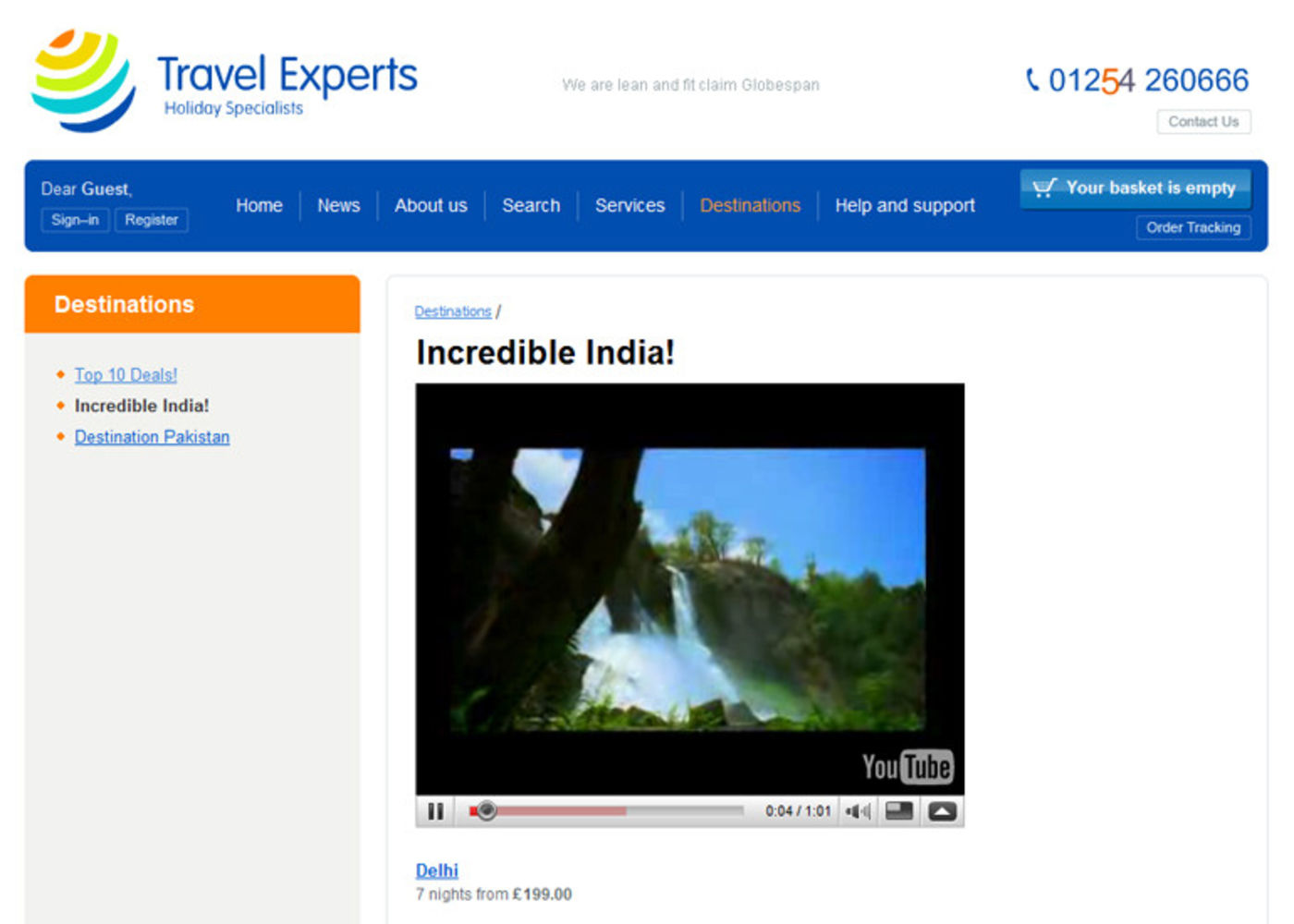 Travel Experts Video in page