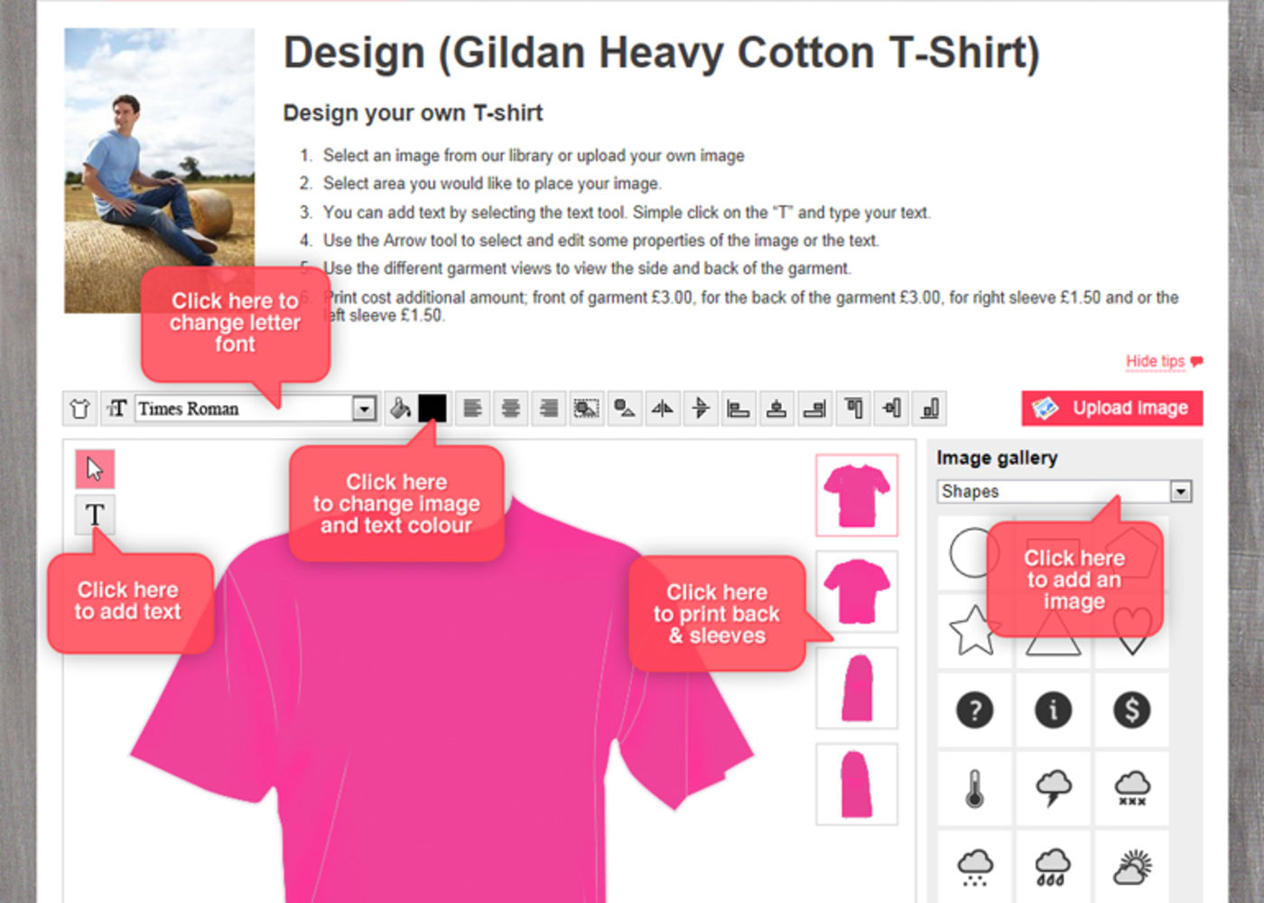 T-Shirt Cabin Design your own T-shirt