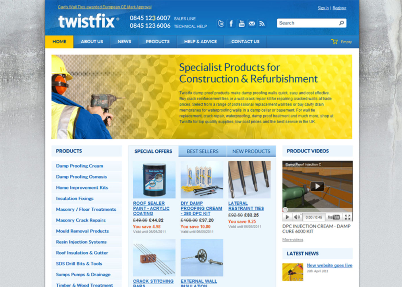 Twistfix 2011 Homepage header