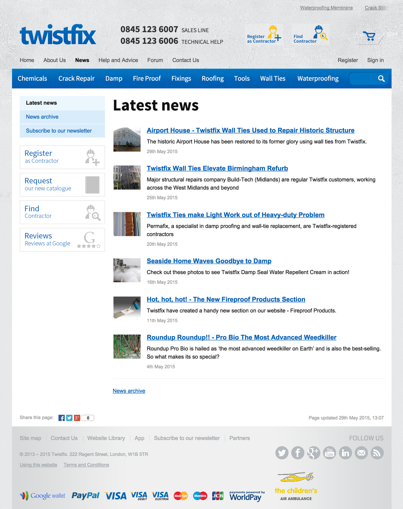 Twistfix 2013 Latest news