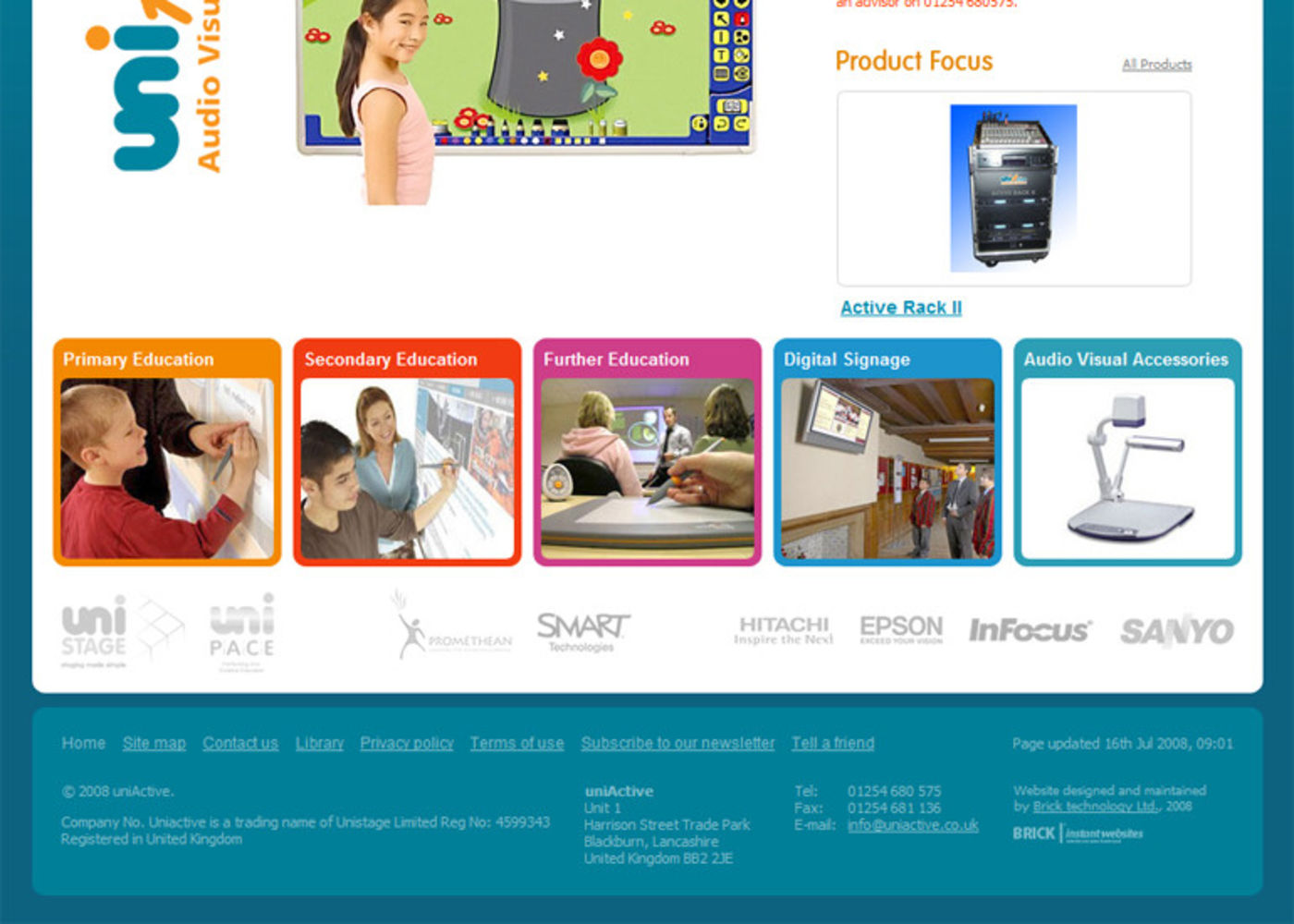 uniActive Homepage footer - uniActive