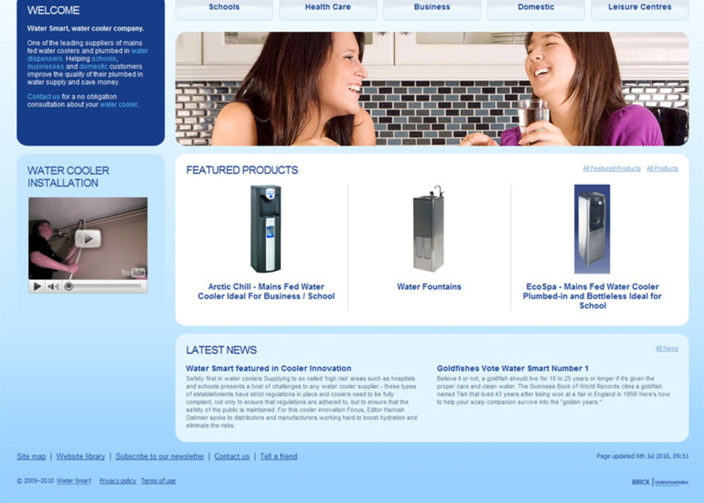 Water Smart Homepage footer