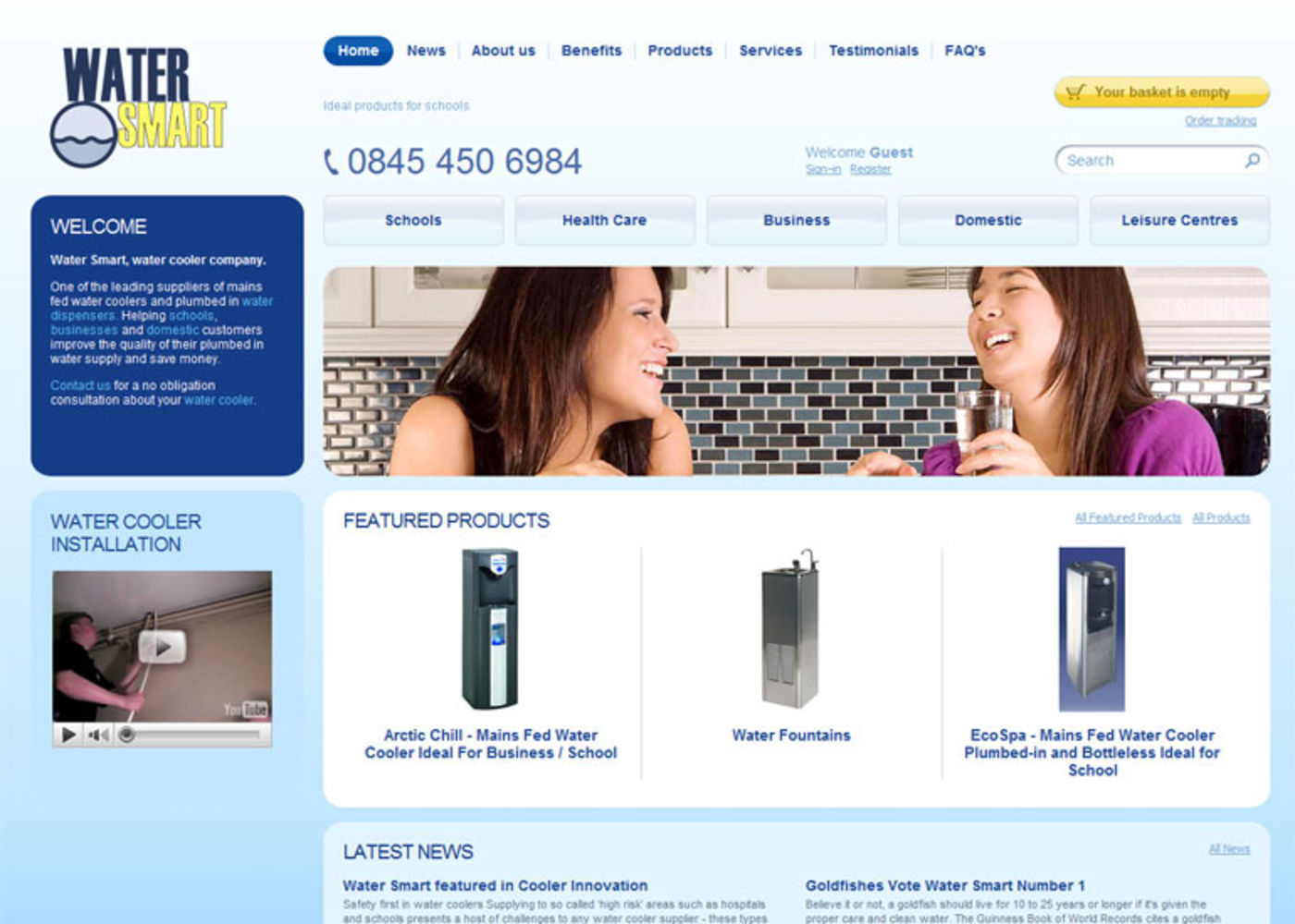 Water Smart Homepage header