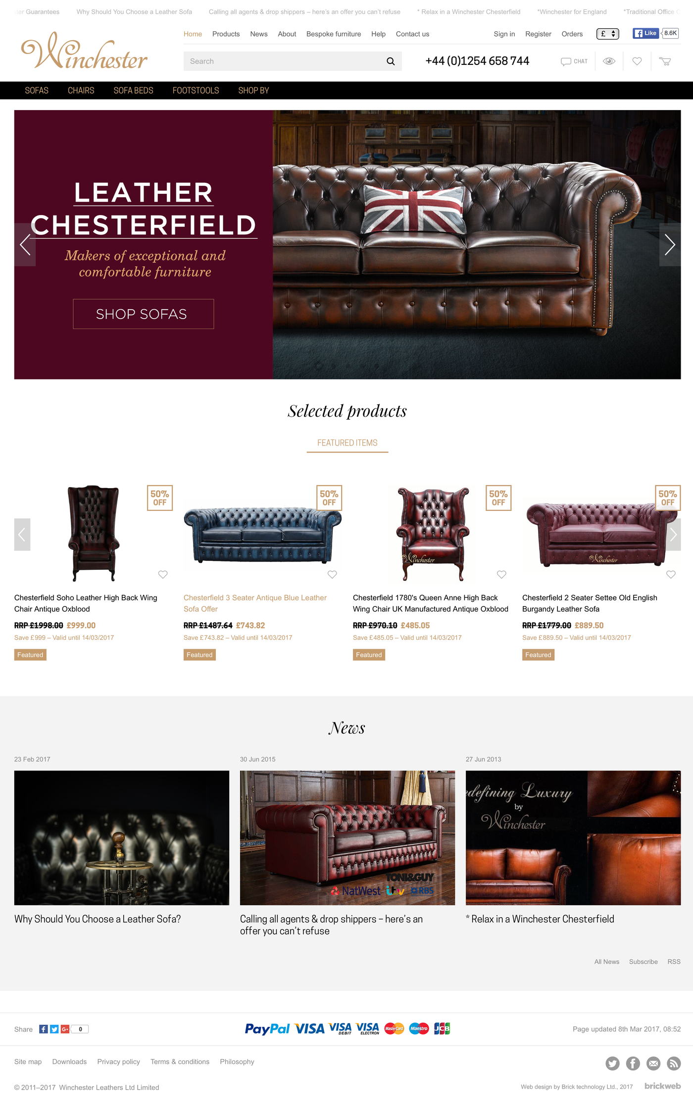 Winchester Leathers Ltd Home page