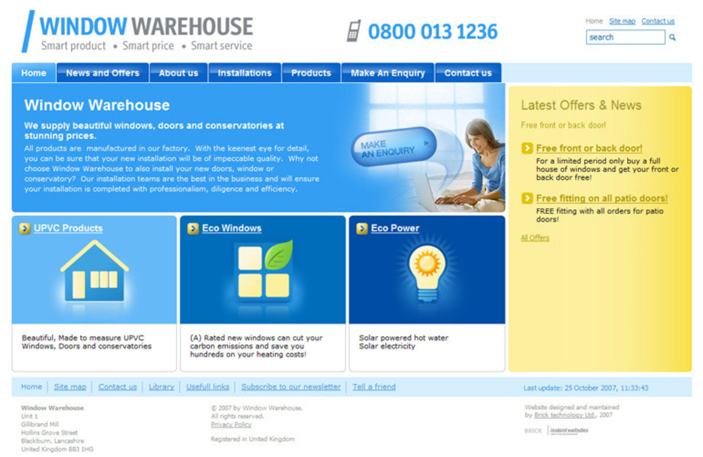 Window Warehouse Homepage