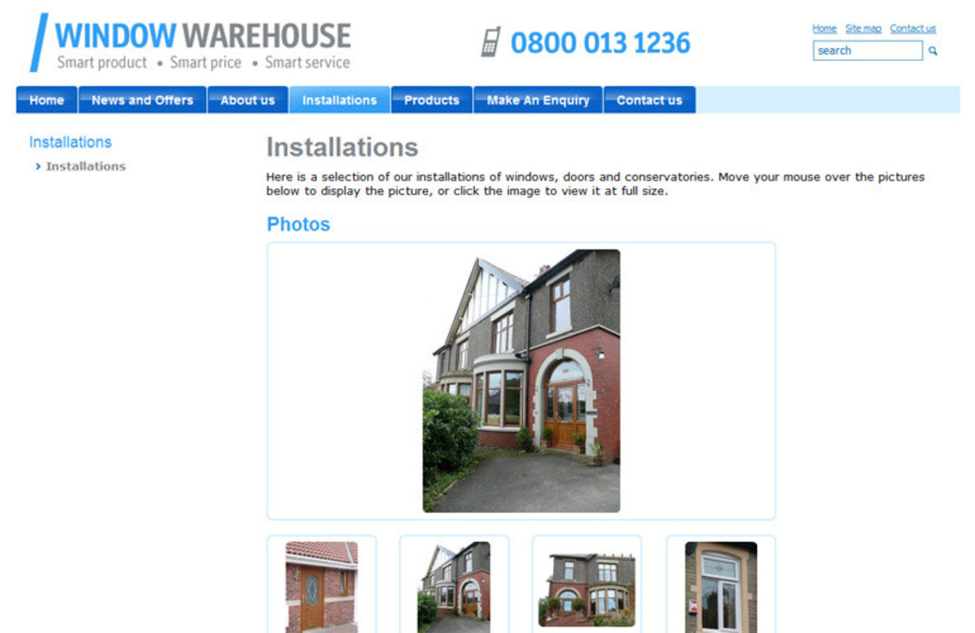 Window Warehouse Installations