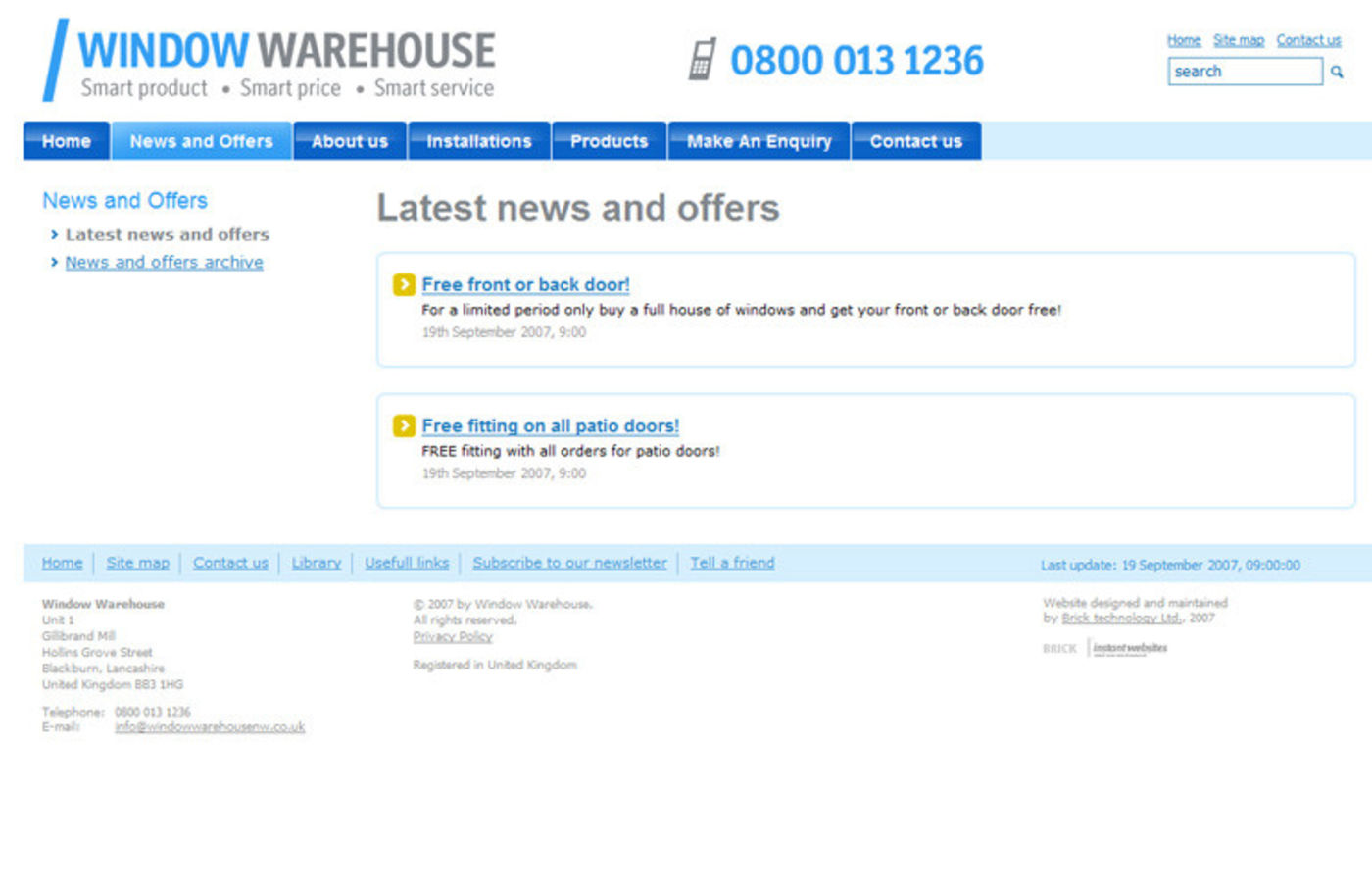 Window Warehouse Latest news and offers