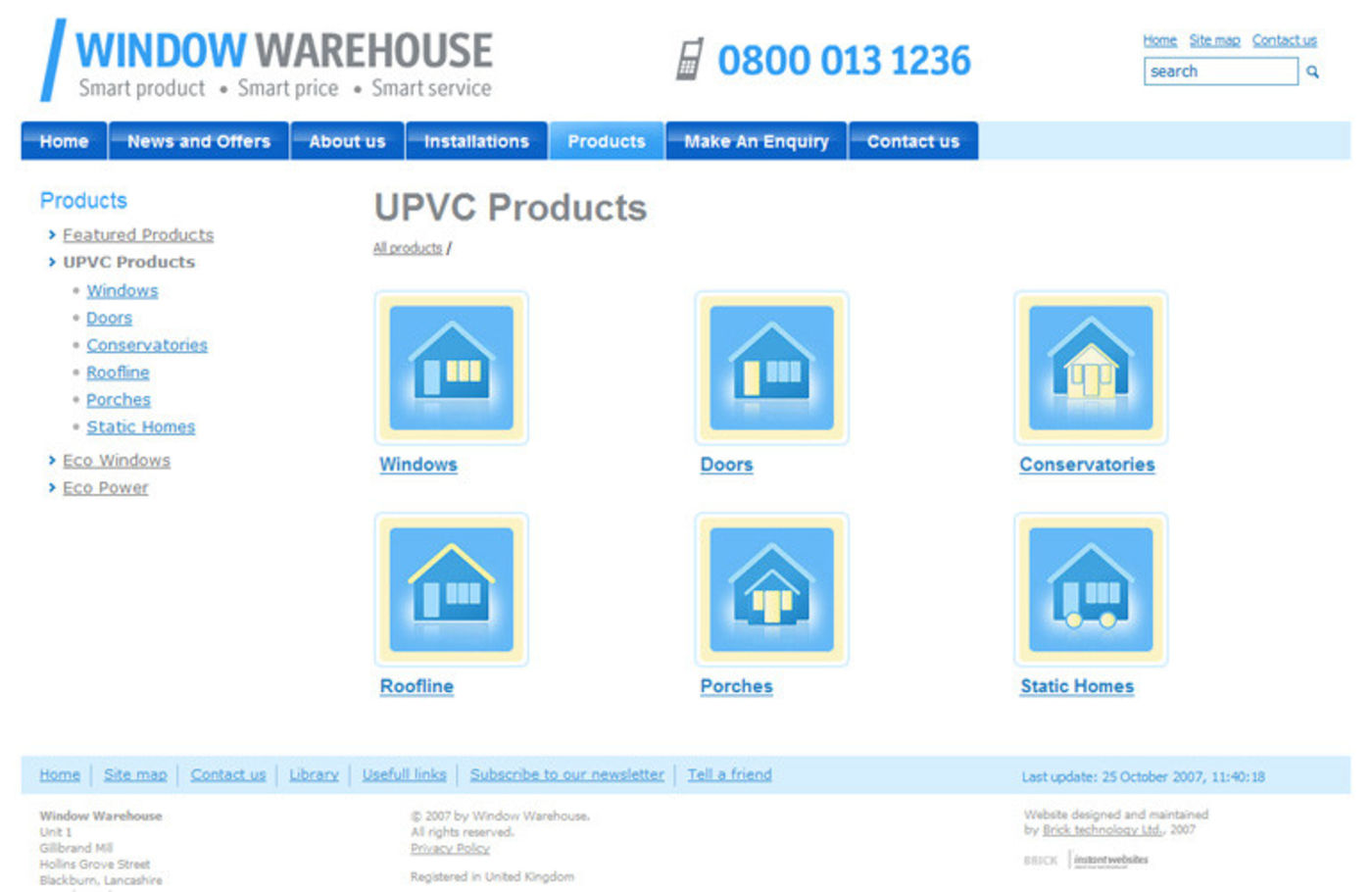 Window Warehouse UPVC Products