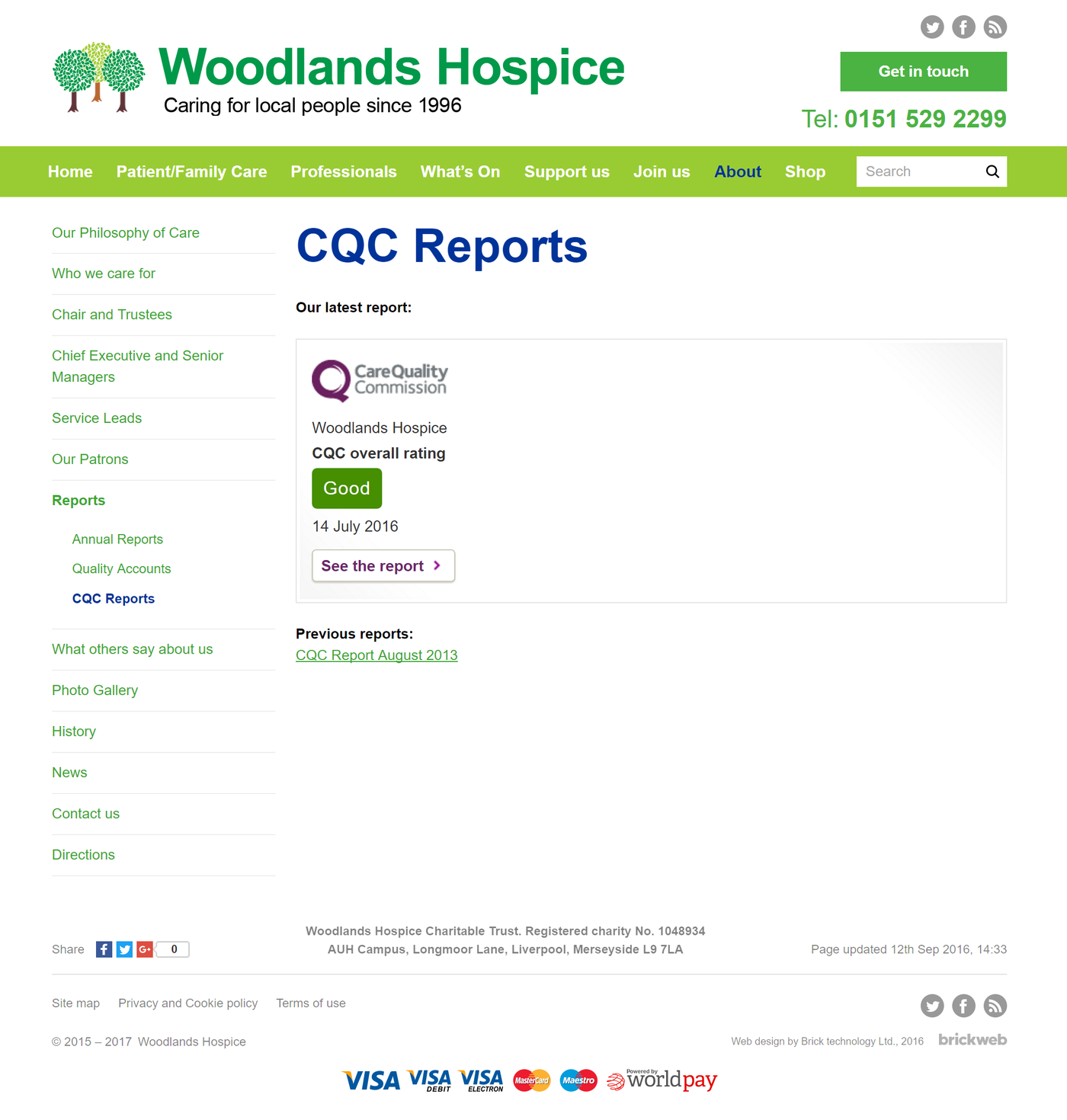 Woodlands Hospice CQC Reports