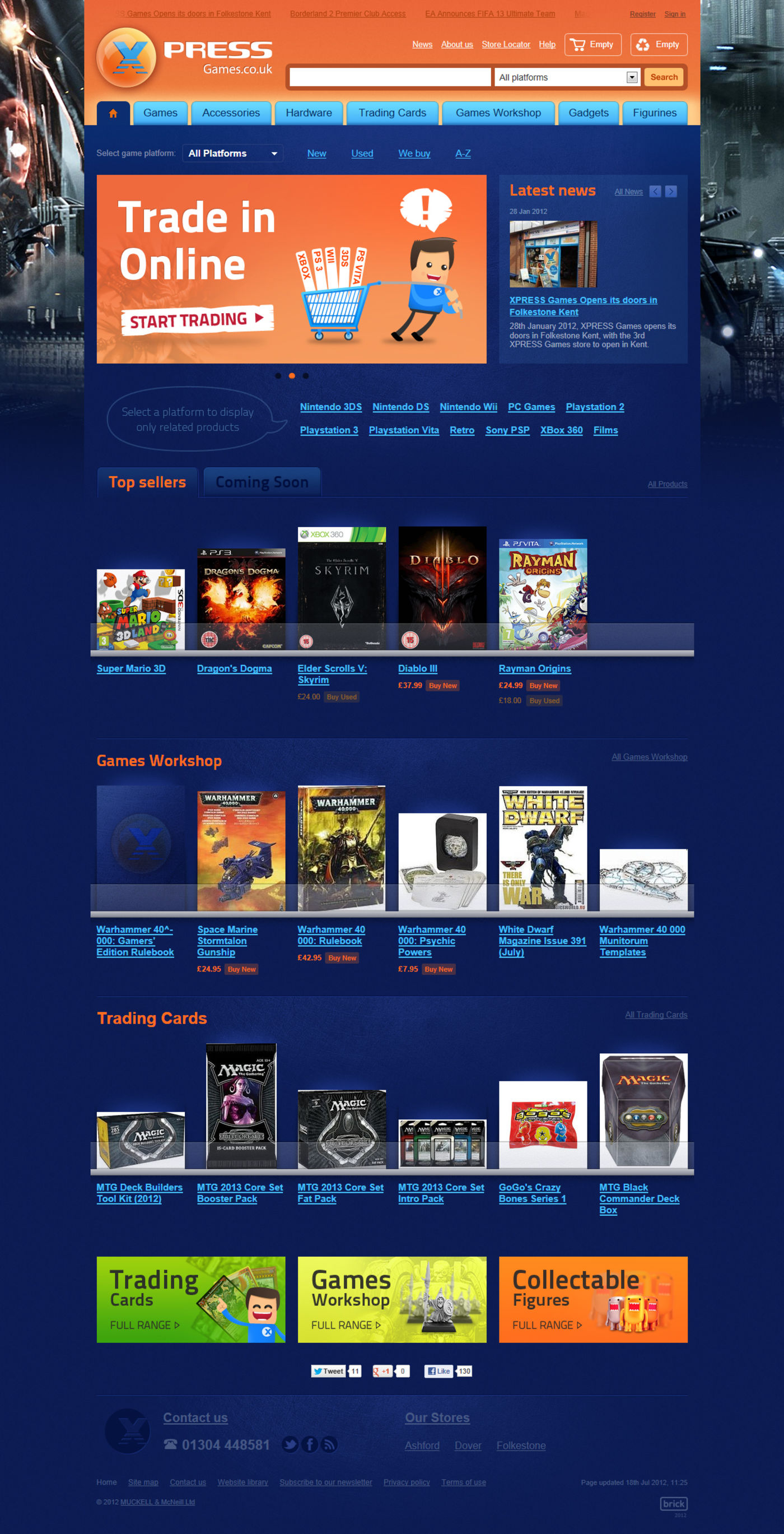 XPRESS Games Homepage